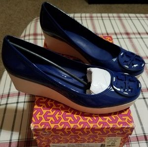 Tory Burch Patent Leather Wedge Shoes